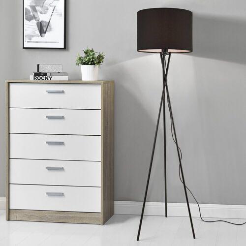 lux.pro Stehlampe, »Grenoble« Stehleuchte Design Dreifuß Lampe schwarz