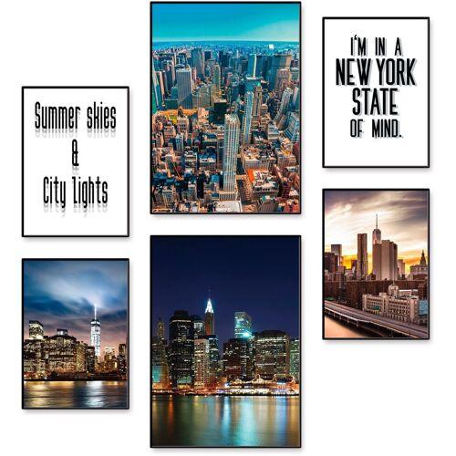 Artland Poster »Die Metropole New York«, Amerika (6 Stück)