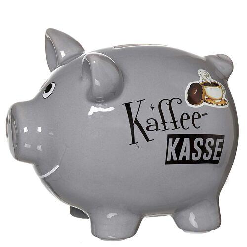 Ritzenhoff & Breker Spardose »KAFFEEKASSE Sparschwein grau«