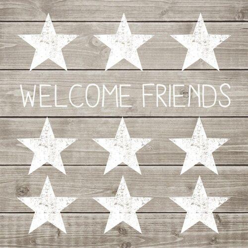 PPD Papierserviette »Welcome Friends 20 Stück 33 cm«