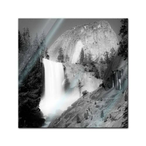 Bilderdepot24 Glasbild, Glasbild - Wasserfall III