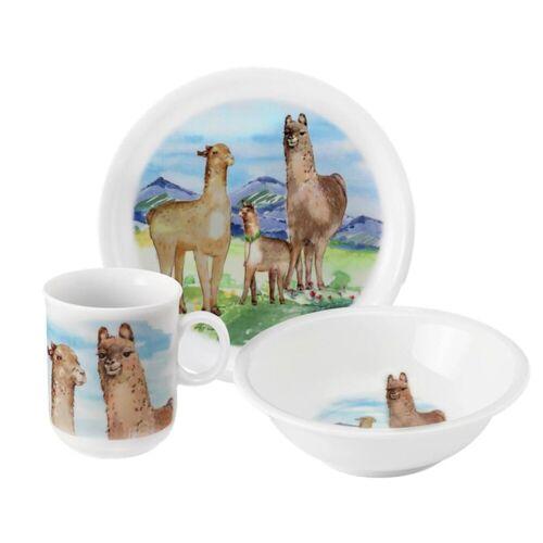 Seltmann Weiden Kindergeschirr-Set »Kinder-Geschirr-Set 3-teilig Compact Alpaka« (3-tlg), Porzellan
