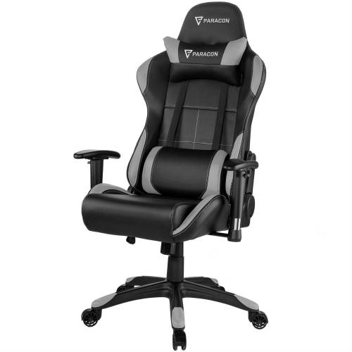 ebuy24 Gaming-Stuhl »Paracon Rogue Gaming Stuhl inkl. Nackenkissen und«, grau
