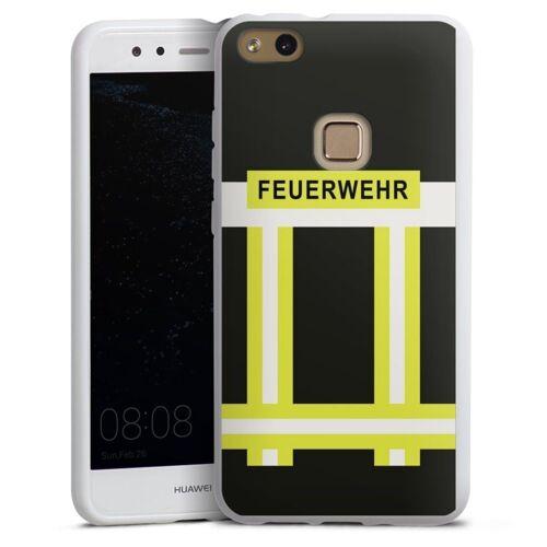 DeinDesign Handyhülle »Feuerwehr« Huawei P10 lite, Hülle Feuerwehr Feuerwehrmann Beruf, weiß