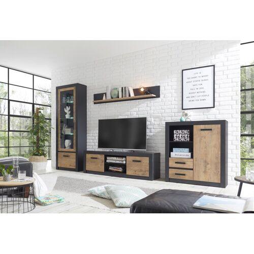 my home Wohnwand »Brügge«, (Set, 4-tlg), Mit einer dekorativen Rahmenoptik