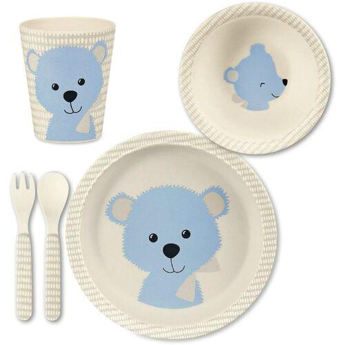 Sterntaler® Kindergeschirr-Set »Bambus Geschirr Set, Baylee blu«, blau