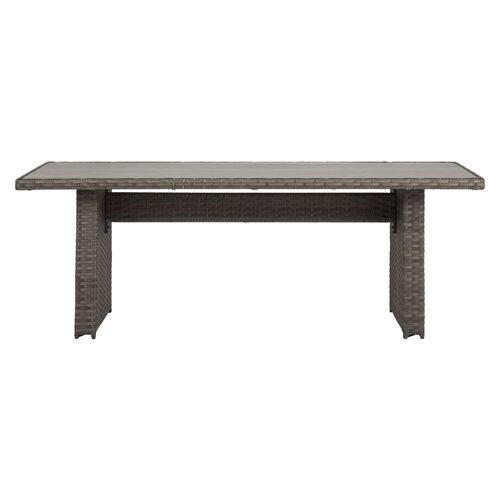 ebuy24 Gartentisch »Oris Gartentisch 210 x 94 cm, grau und hellgrau.«
