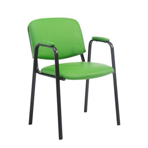 CLP Besucherstuhl »Ken PRO Kunstleder« mit Armlehne und Bodenschonern, grün