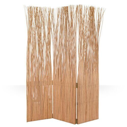 Homestyle4u Paravent, Weidenparavent 120 x 170 cm, Natur