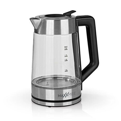 MAXXMEE Wasserkocher, 2 l, Glas-Wasserkocher Smart Deckel 2l