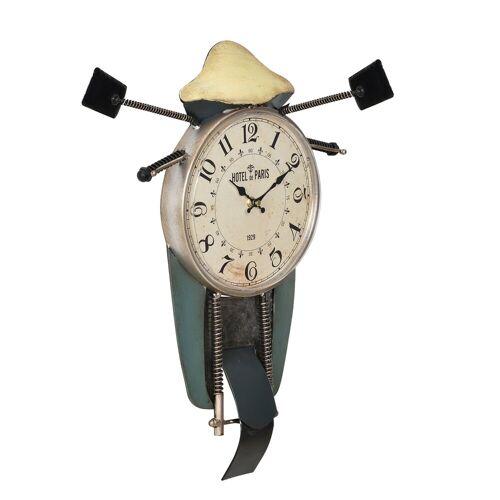 en.casa Wanduhr (Motorrad« Design Uhr Metall)