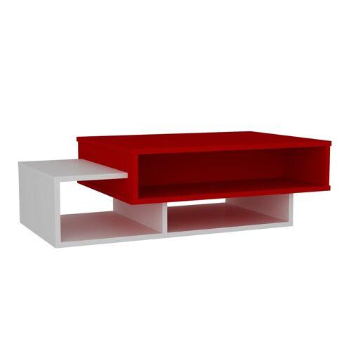 moebel17 Couchtisch »Couchtisch Tab Weiß Rot«