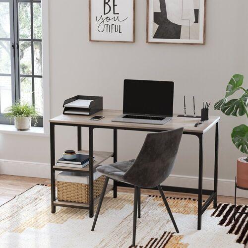 VASAGLE Schreibtisch »LWD47X LWD47MB«, Schreibtisch, Computertisch, Bürotisch, Industrie-Design, greige, Greige