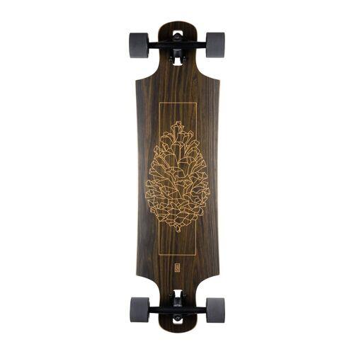 """Landyachtz Longboard »Komplettboard Drop Hammer Walnut 36.5"""" Drop Through 92,7cm«, Twintip Shape"""