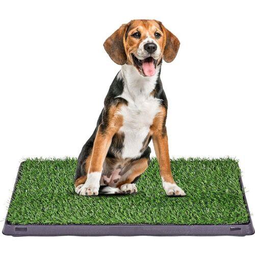 COSTWAY Toilettentrainer »Hundetoilette«, mit Rasen 3-Lagen-Trainingsunterlage