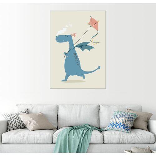 Posterlounge Wandbild, Drache lässt den Drachen steigen