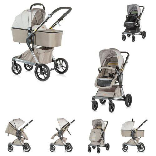Chipolino Kombi-Kinderwagen »Kinderwagen Fusion 2 in 1«, Kollektion 2018, Sportaufsatz und Babywanne, beige