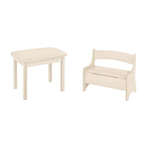 BioKinder - Das gesunde Kinderzimmer Kindersitzgruppe »Levin«, mit Tisch und Sitzbank, Sitzhöhe 30 cm, Weiß