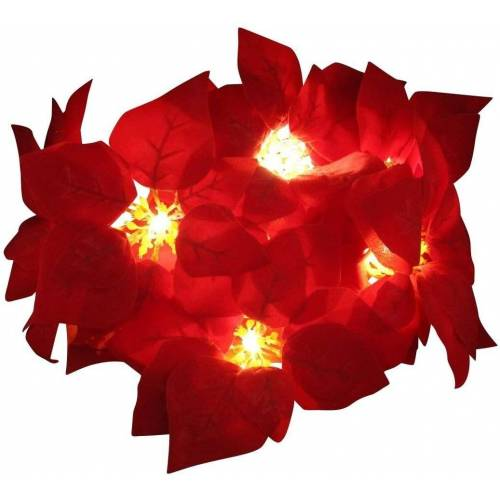 JOKA international LED-Lichterkette »LED Lichterkette Weihnachtsstern Deko Weihnachten 10teilig«, 10-flammig