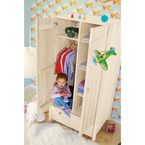 BioKinder - Das gesunde Kinderzimmer Kleiderschrank »Luca« mit 4 flexiblen Einlegeböden und 1 flexiblen Kleiderstange