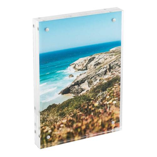 HMF Bilderrahmen »BRM 469«, für 1 Bilder, magnetisch, aus Acrylglas, 10 x 15 cm, Transparent