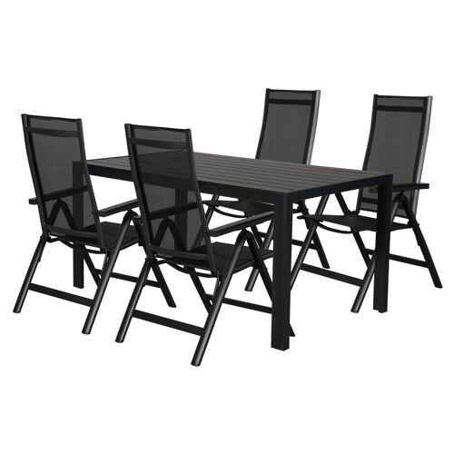 ebuy24 Essgruppe »Cult Gartenmöbel Set 1 Tisch und 4 Stühle.«