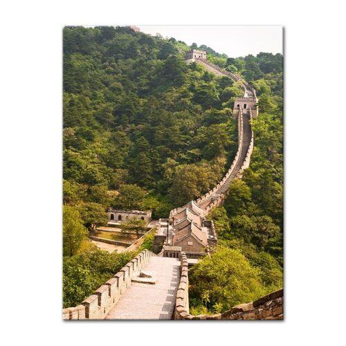 Bilderdepot24 Leinwandbild, Leinwandbild - Die grosse Mauer nahe Peking