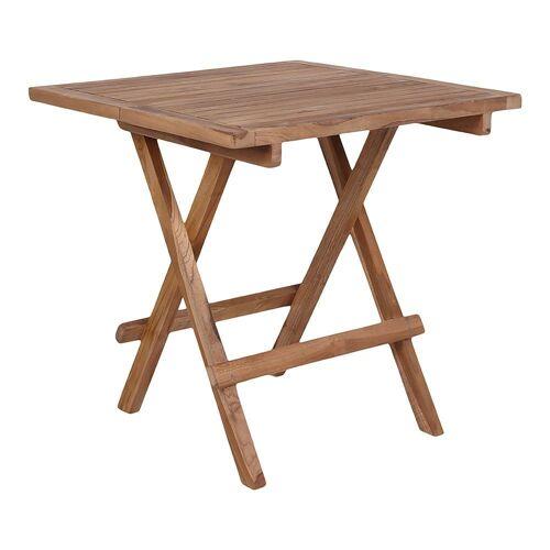 ebuy24 Gartentisch »Bine kleiner Gartentisch 50x50 cm Teakholz massiv.«