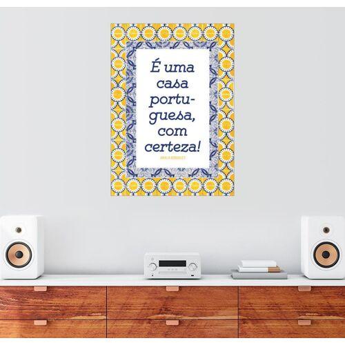 Posterlounge Wandbild, Ein portugiesisches Haus (portugiesisch)