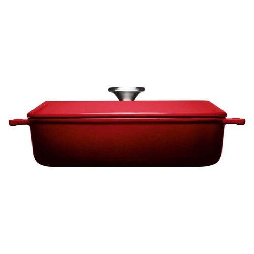 Woll Pfannen Kasserolle »Kasserolle mit Deckel Ø 28 cm Iron«, Gusseisen, Rot