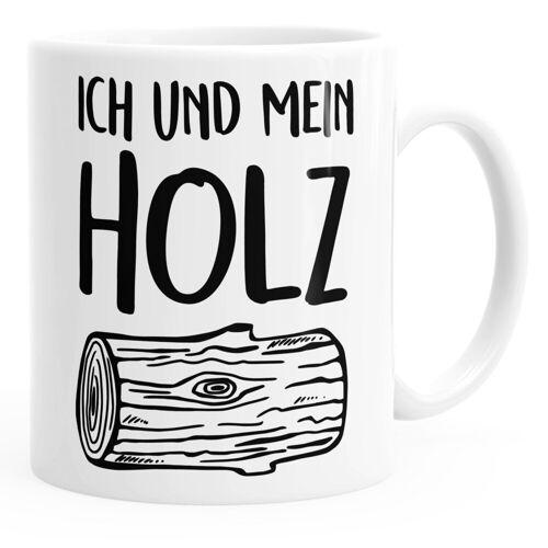 MoonWorks Tasse »Kaffee-Tasse Ich und mein Holz Holzi einfarbig ®«