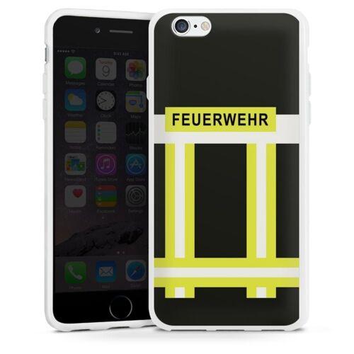 DeinDesign Handyhülle »Feuerwehr« Apple iPhone 6s, Hülle Feuerwehr Feuerwehrmann Beruf, weiß
