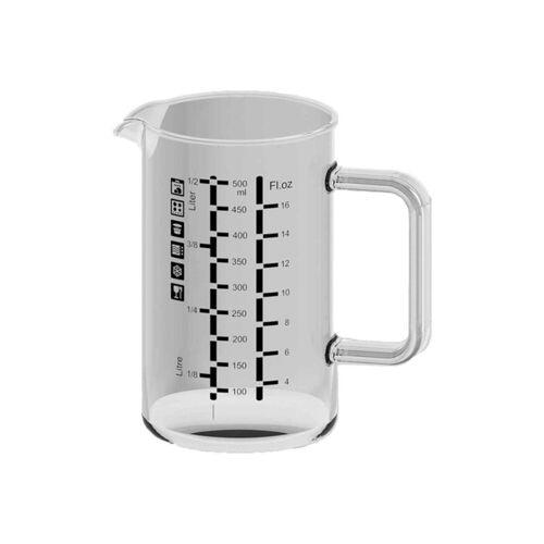 SIMAX Messbecher »Glas Messbecher mit Henkel 0,5 l«, Glas