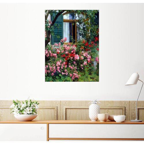 Posterlounge Wandbild, Am Blumenfenster