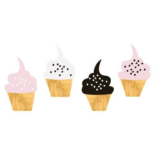 dekodino Wandtattoo »Cupcake Set modern« (1 Stück)