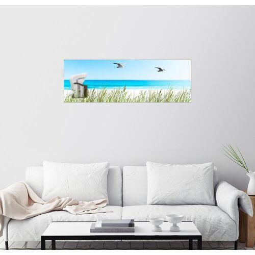 Posterlounge Wandbild, Acrylglasbild Strandkorb Idyll an der Ostsee