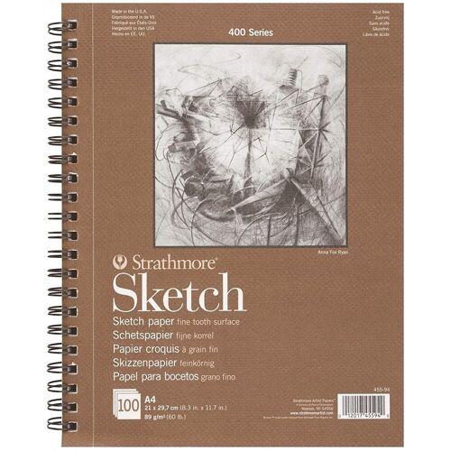 Strathmore Artist Papers™ Skizzenblock »Skizzen-Papier, Spiralblock, A4, 21 x 29,7 cm, 89 g/m², 100 Blatt«, 400 Series Sketch