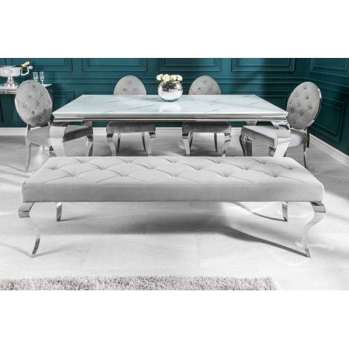 riess-ambiente Sitzbank »MODERN BAROCK 172cm edel-grau«, mit Samt-Bezug