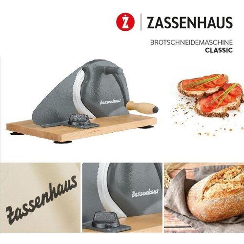 """ZASSENHAUS Allesschneider Allesschneider - Brotschneidemaschine """"Classic"""" grau 072099"""
