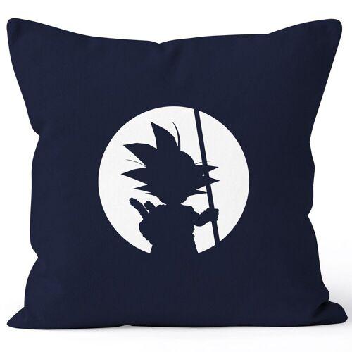 MoonWorks Dekokissen »Kissenbezug Son Goku Moon Kissenhülle Dekokissen Baumwolle ®«, navy