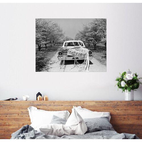Posterlounge Wandbild, Hochzeitsauto