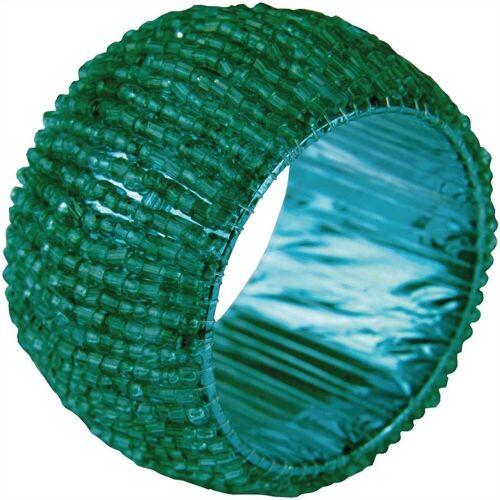 Bestlivings Serviettenring, Glasperlen, (1-tlg), Serviettenring, Handarbeit, Glasperlenring, Grün