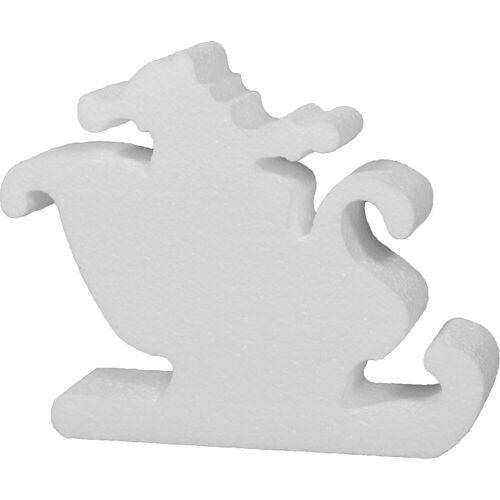 VBS Styropor-Figur »Weihnachtsmann im Schlitten«, 20 cm x 17 cm x 4 cm