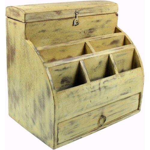 Guru-Shop Aufbewahrungsdose »Vintage Schreibtisch Ordner, Schreibtisch..«