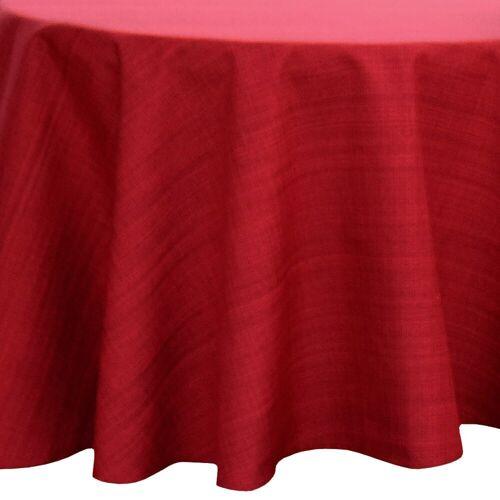 matches21 HOME & HOBBY Tischdecke »Outdoor Tischdecken Gartentischdecken rund wetterfest« (1-tlg), rot