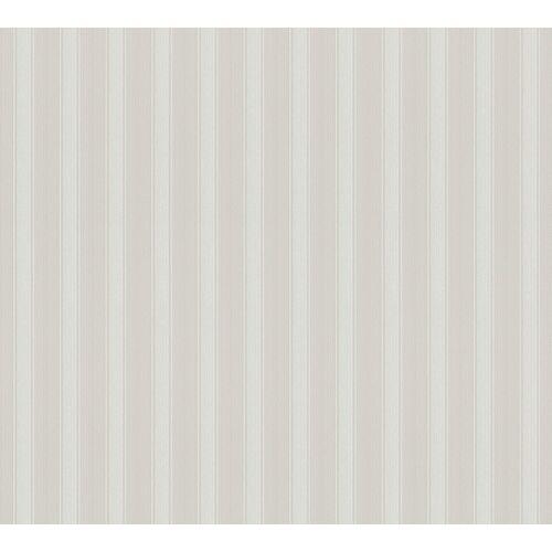 A.S. Création Vinyltapete, Streifentapete Grau Papiertapete 370012 Wand Streifen Tapete