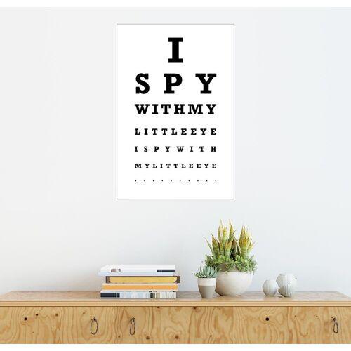 Posterlounge Wandbild, I spy… - Sehtest English