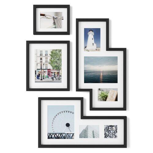 Umbra Bilderrahmen Collage »Mingle; Galerie Bilderrahmen Set 4-teilig in Schwarz«