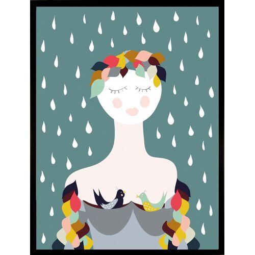 Home affaire Kunstdruck »Rainy Lady«, 33/43 cm, gerahmt