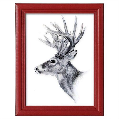 Woltu Bilderrahmen, Bilderrahmen aus Holz in Artos Stil,1 Stück, rot
